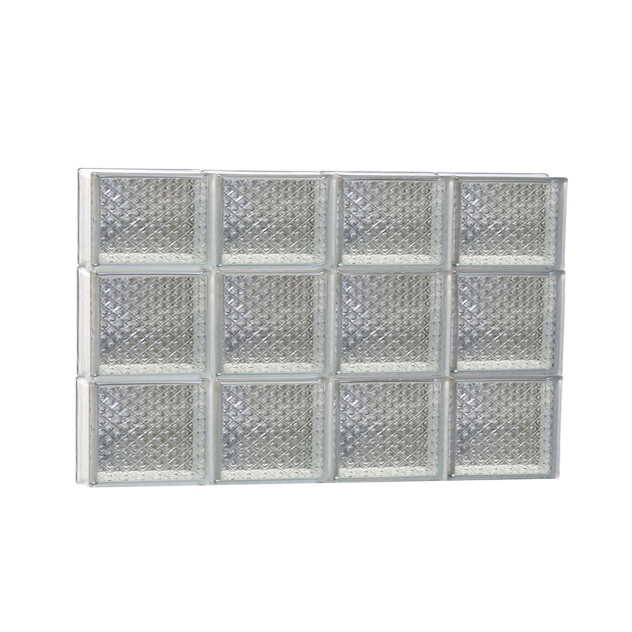 REDI2SET Diamond Glass Pattern Frameless Replacement Glass Block Window (Rough Opening: 32-in x 22-in; Actual: 31-in x 21.25-in)