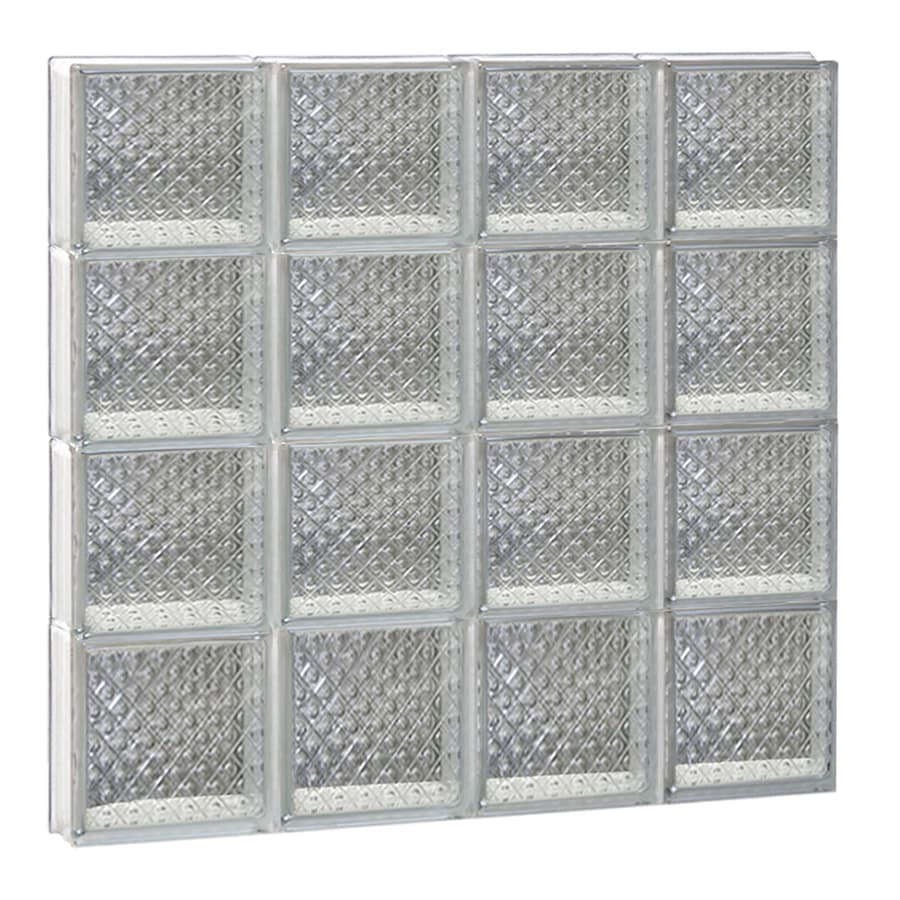 REDI2SET Diamond Glass Pattern Frameless Replacement Glass Block Window (Rough Opening: 32-in x 32-in; Actual: 31-in x 31-in)