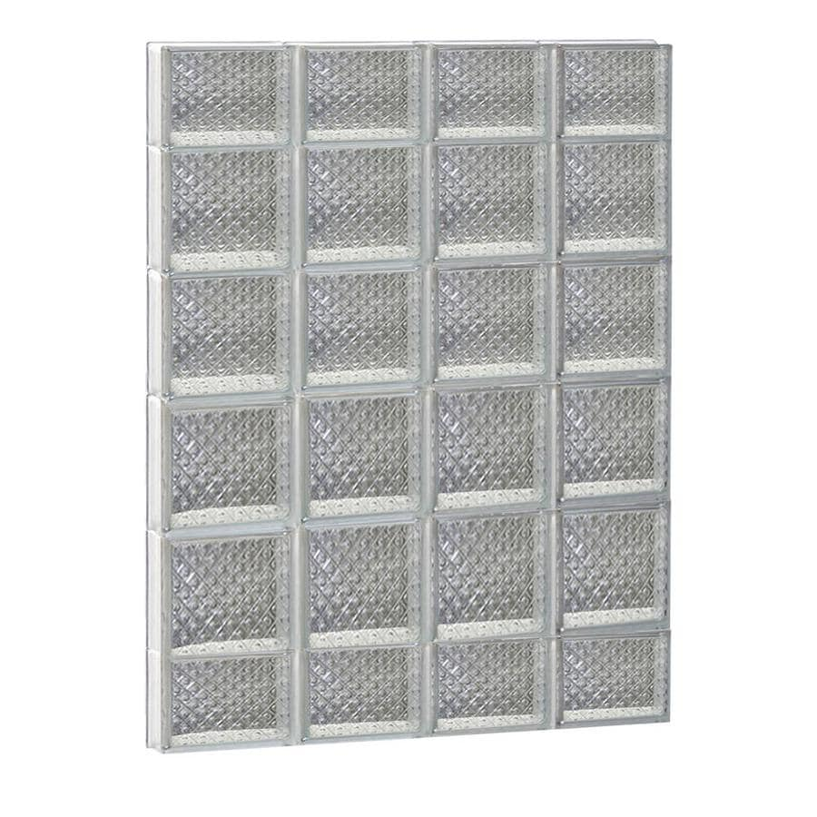 REDI2SET Diamond Glass Pattern Frameless Replacement Glass Block Window (Rough Opening: 32-in x 44-in; Actual: 31-in x 42.5-in)