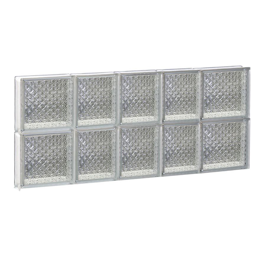 REDI2SET Diamond Glass Pattern Frameless Replacement Glass Block Window (Rough Opening: 34-in x 16-in; Actual: 32.75-in x 15.5-in)