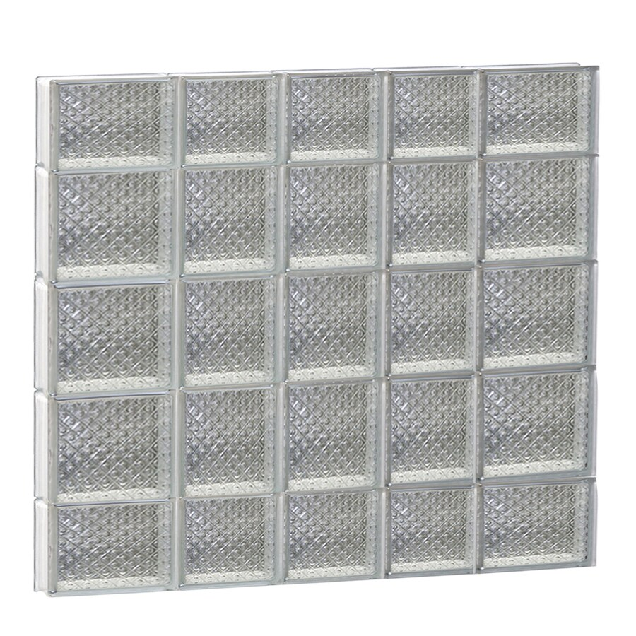 REDI2SET Diamond Glass Pattern Frameless Replacement Glass Block Window (Rough Opening: 34-in x 36-in; Actual: 32.75-in x 34.75-in)