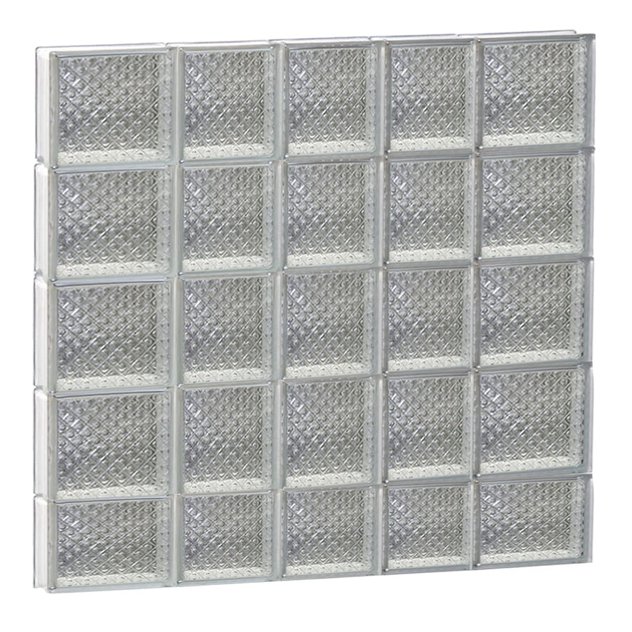 REDI2SET Diamond Glass Pattern Frameless Replacement Glass Block Window (Rough Opening: 34-in x 38-in; Actual: 32.75-in x 36.75-in)