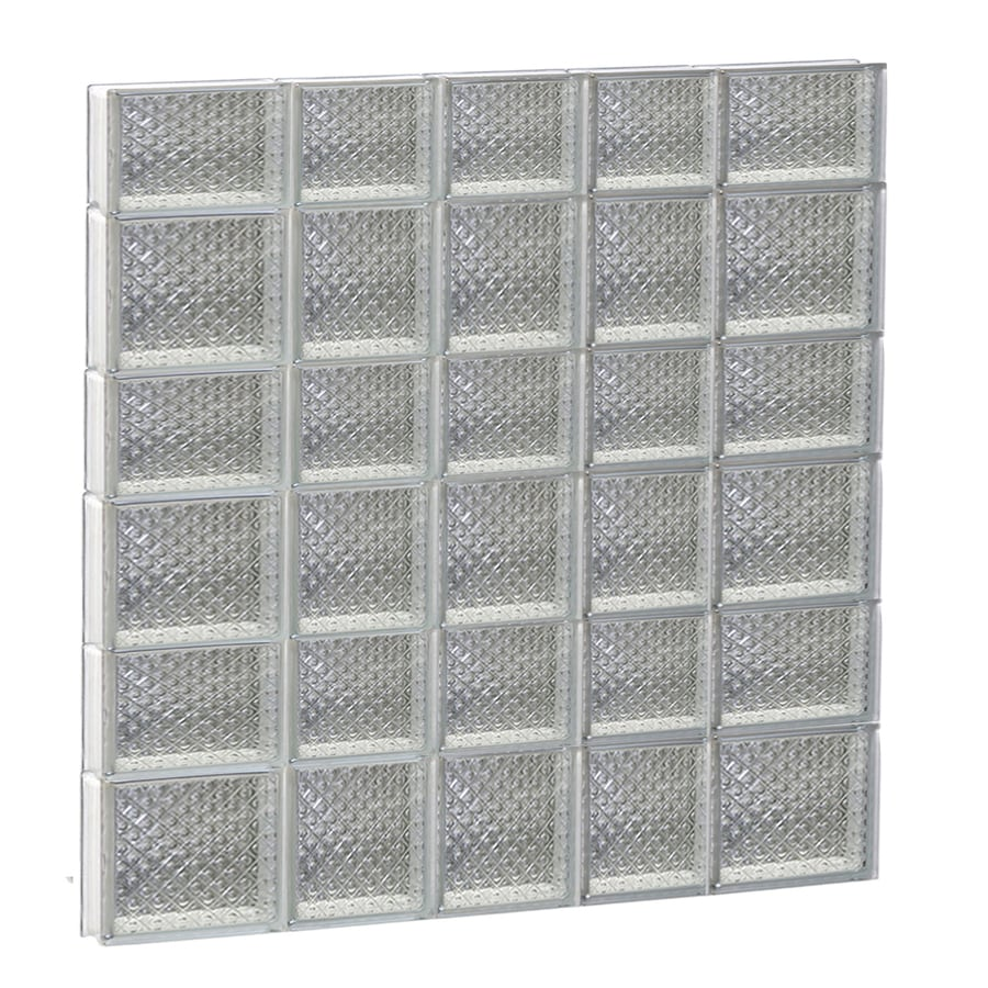 REDI2SET Diamond Glass Pattern Frameless Replacement Glass Block Window (Rough Opening: 34-in x 42-in; Actual: 32.75-in x 40.5-in)