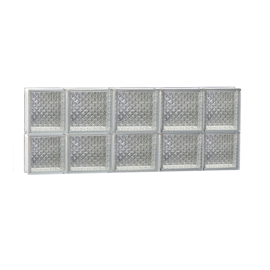 REDI2SET Diamond Glass Pattern Frameless Replacement Glass Block Window (Rough Opening: 36-in x 14-in; Actual: 34.75-in x 13.5-in)