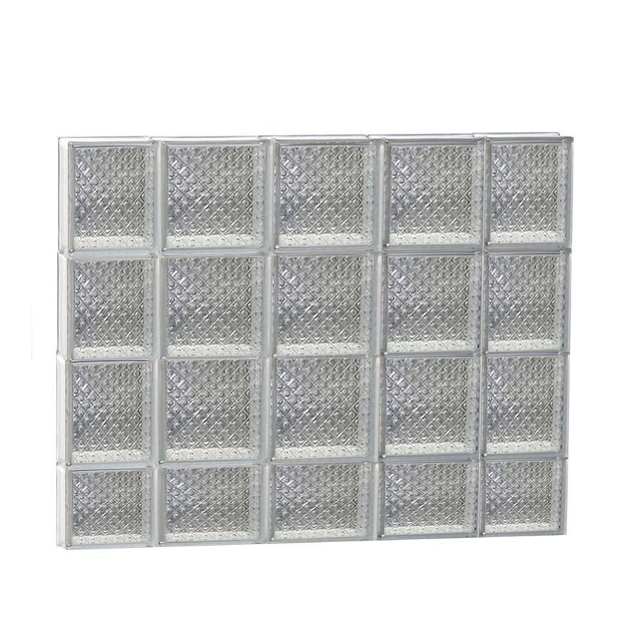 REDI2SET Diamond Glass Pattern Frameless Replacement Glass Block Window (Rough Opening: 36-in x 30-in; Actual: 34.75-in x 29-in)