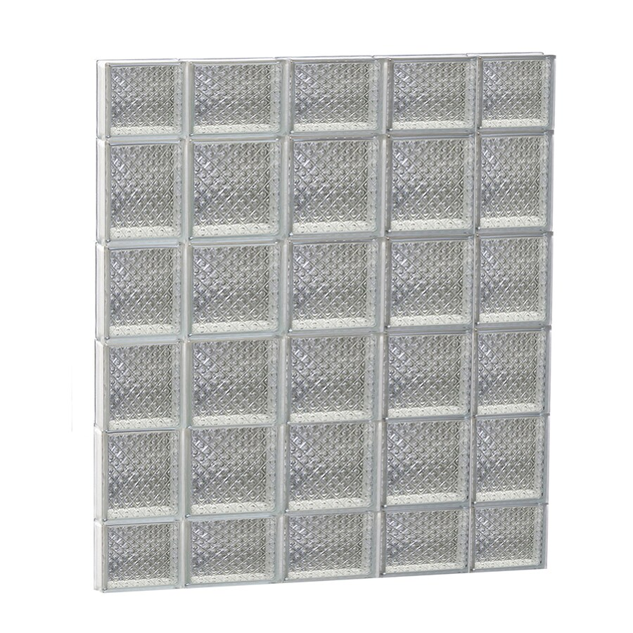 REDI2SET Diamond Glass Pattern Frameless Replacement Glass Block Window (Rough Opening: 36-in x 44-in; Actual: 34.75-in x 42.5-in)