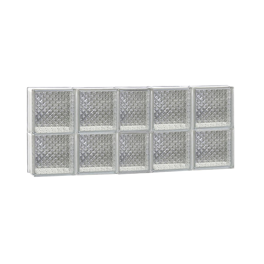 REDI2SET Diamond Glass Pattern Frameless Replacement Glass Block Window (Rough Opening: 38-in x 16-in; Actual: 36.75-in x 15.5-in)