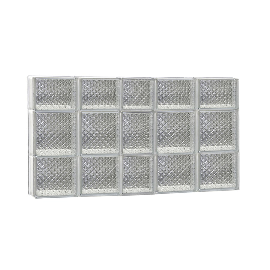 REDI2SET Diamond Glass Pattern Frameless Replacement Glass Block Window (Rough Opening: 38-in x 22-in; Actual: 36.75-in x 21.25-in)