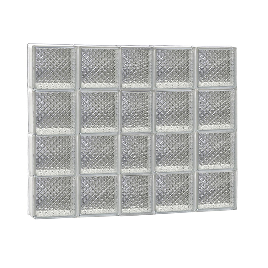REDI2SET Diamond Glass Pattern Frameless Replacement Glass Block Window (Rough Opening: 38-in x 32-in; Actual: 36.75-in x 31-in)