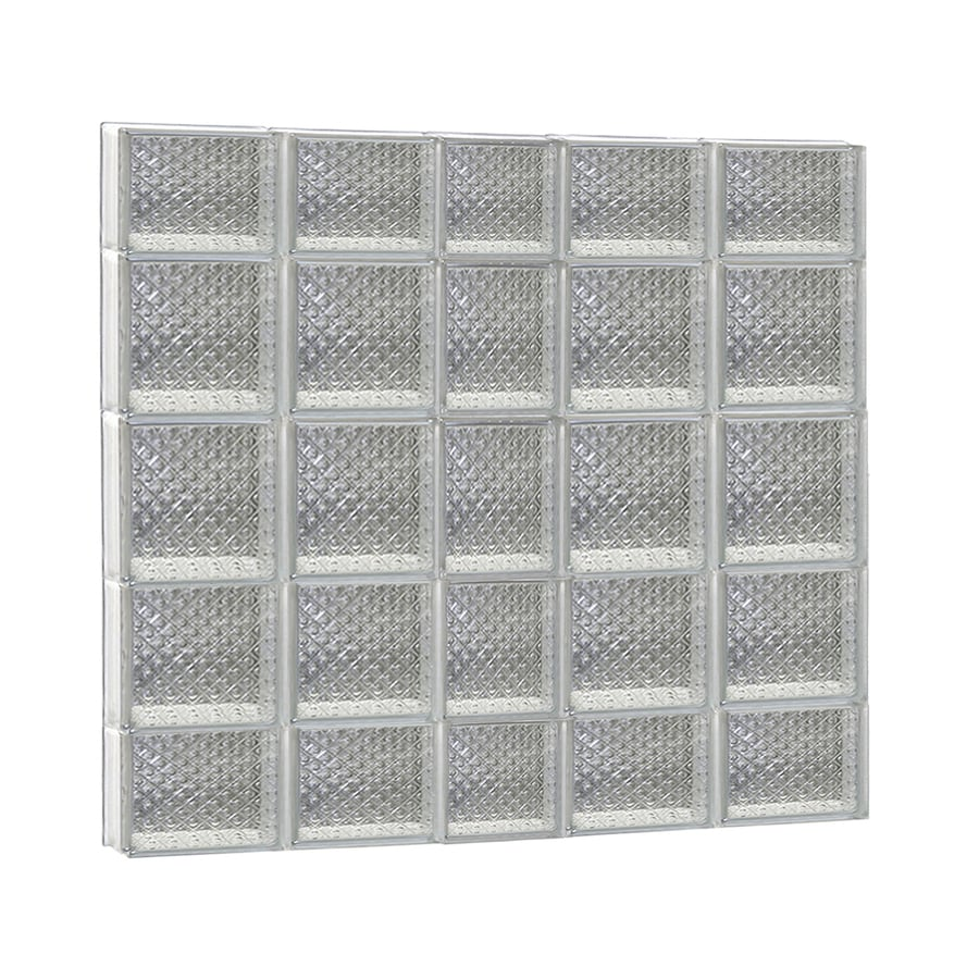 REDI2SET Diamond Glass Pattern Frameless Replacement Glass Block Window (Rough Opening: 38-in x 36-in; Actual: 36.75-in x 34.75-in)