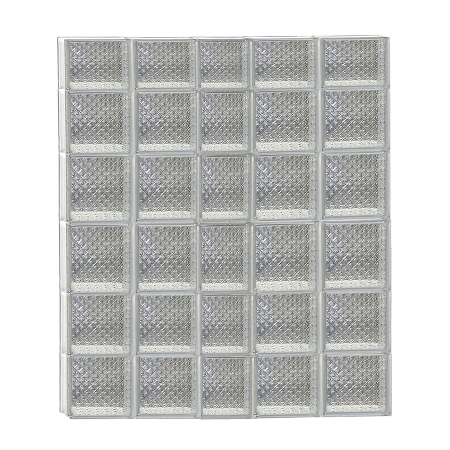 REDI2SET Diamond Glass Pattern Frameless Replacement Glass Block Window (Rough Opening: 38-in x 46-in; Actual: 36.75-in x 44.5-in)