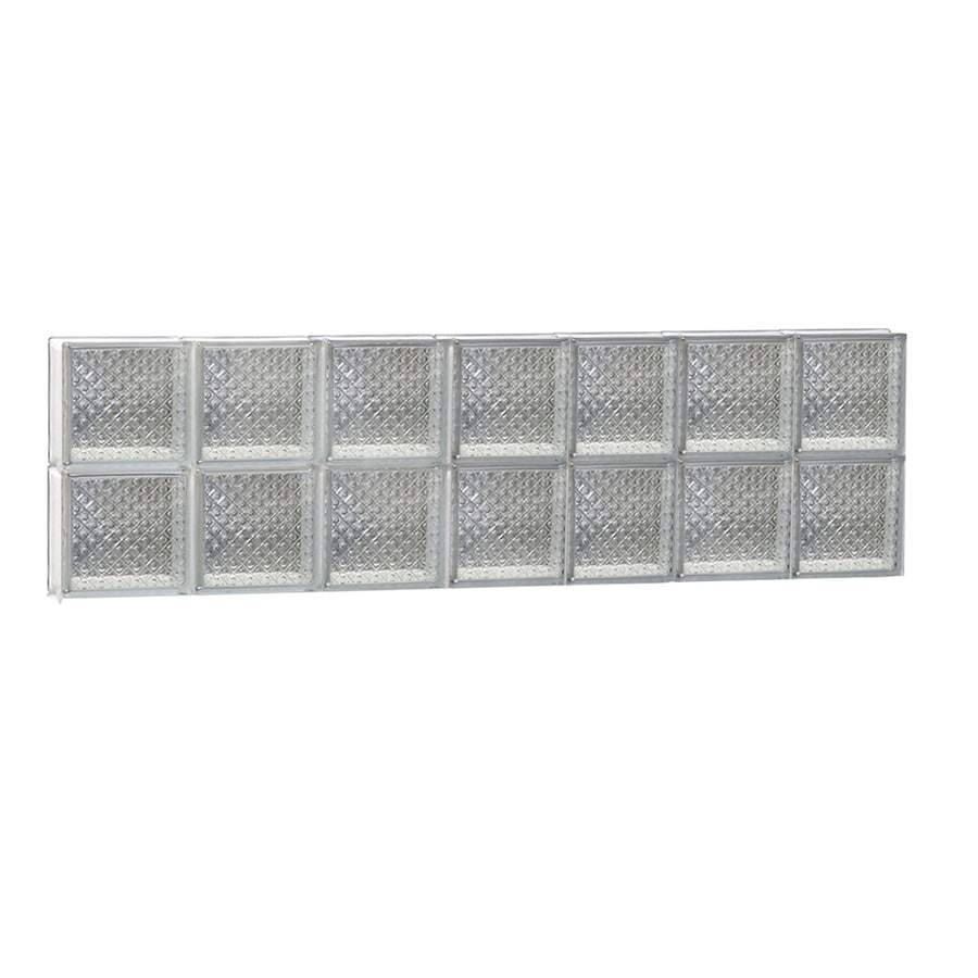 REDI2SET Diamond Glass Pattern Frameless Replacement Glass Block Window (Rough Opening: 42-in x 12-in; Actual: 40.25-in x 11.5-in)