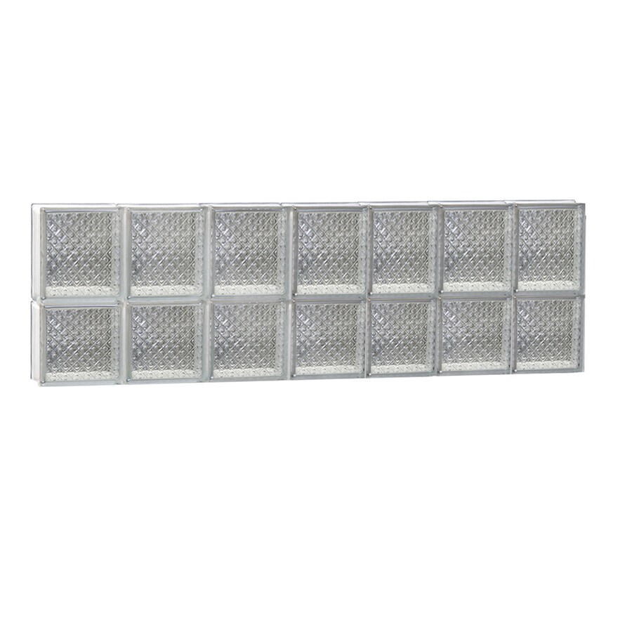 REDI2SET Diamond Glass Pattern Frameless Replacement Glass Block Window (Rough Opening: 42-in x 14-in; Actual: 40.25-in x 13.5-in)