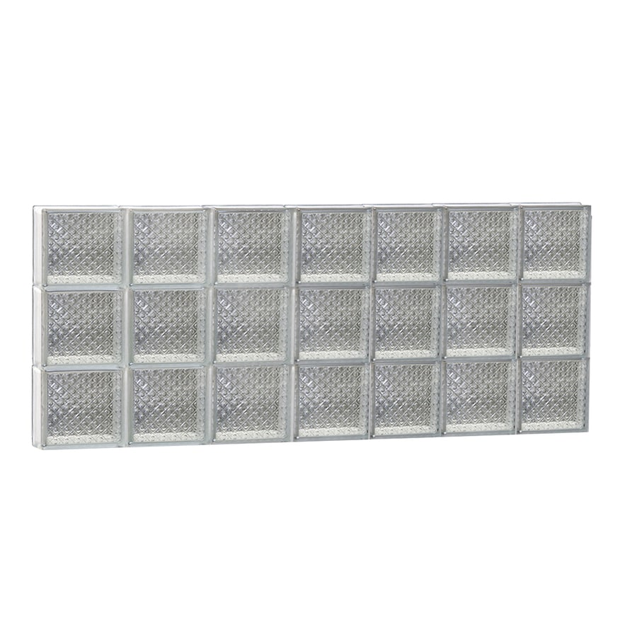 REDI2SET Diamond Glass Pattern Frameless Replacement Glass Block Window (Rough Opening: 42-in x 18-in; Actual: 40.25-in x 17.25-in)