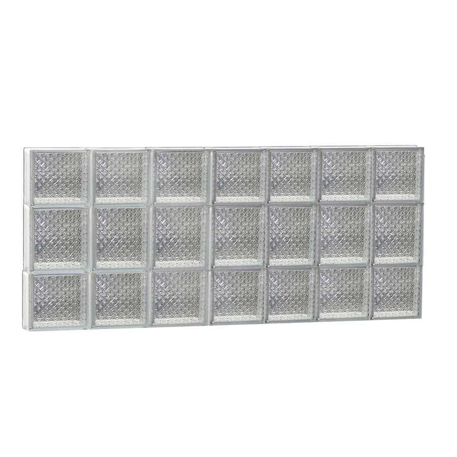 REDI2SET Diamond Glass Pattern Frameless Replacement Glass Block Window (Rough Opening: 42-in x 20-in; Actual: 40.25-in x 19.25-in)