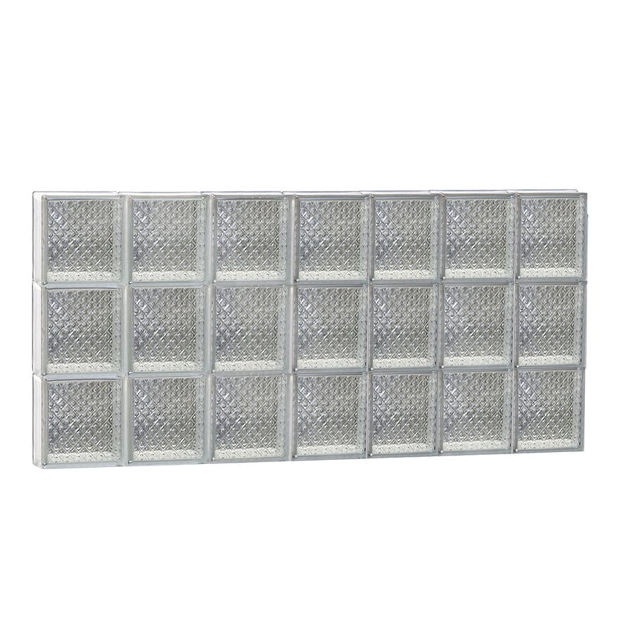 REDI2SET Diamond Glass Pattern Frameless Replacement Glass Block Window (Rough Opening: 42-in x 24-in; Actual: 40.25-in x 23.25-in)