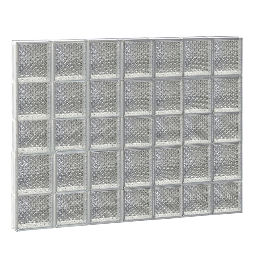 REDI2SET Diamond Glass Pattern Frameless Replacement Glass Block Window (Rough Opening: 42-in x 34-in; Actual: 40.25-in x 32.75-in)