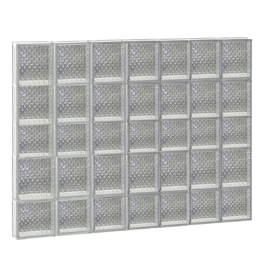 REDI2SET Diamond Glass Pattern Frameless Replacement Glass Block Window (Rough Opening: 42-in x 36-in; Actual: 40.25-in x 34.75-in)