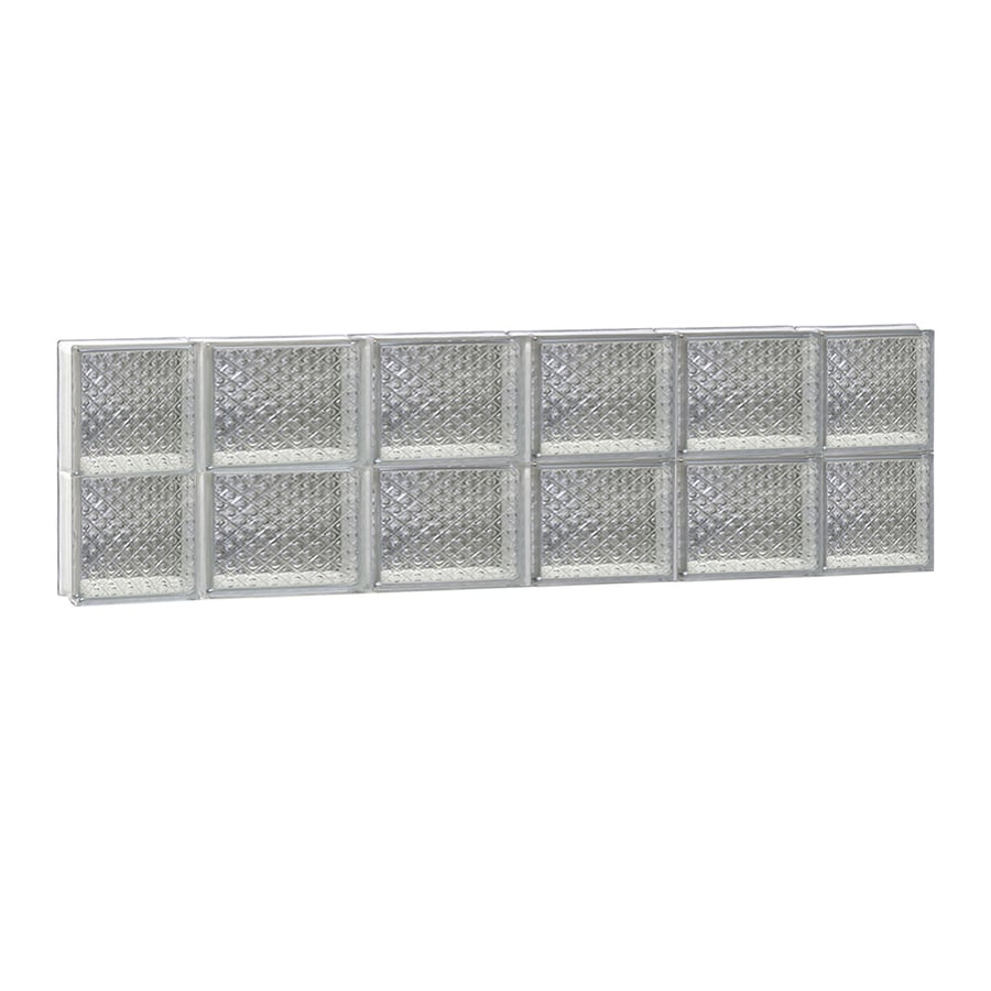 REDI2SET Diamond Glass Pattern Frameless Replacement Glass Block Window (Rough Opening: 44-in x 12-in; Actual: 42.5-in x 11.5-in)