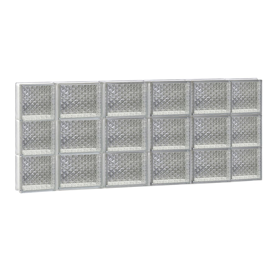 REDI2SET Diamond Glass Pattern Frameless Replacement Glass Block Window (Rough Opening: 44-in x 18-in; Actual: 42.5-in x 17.25-in)