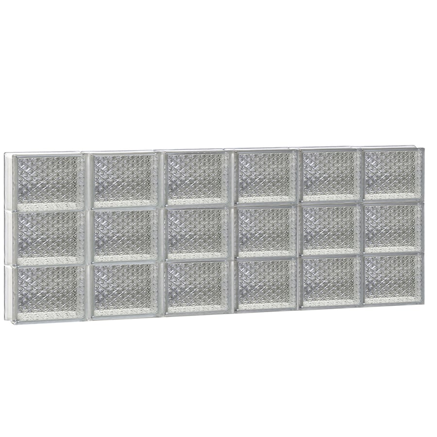 REDI2SET Diamond Glass Pattern Frameless Replacement Glass Block Window (Rough Opening: 48-in x 18-in; Actual: 46.5-in x 17.25-in)