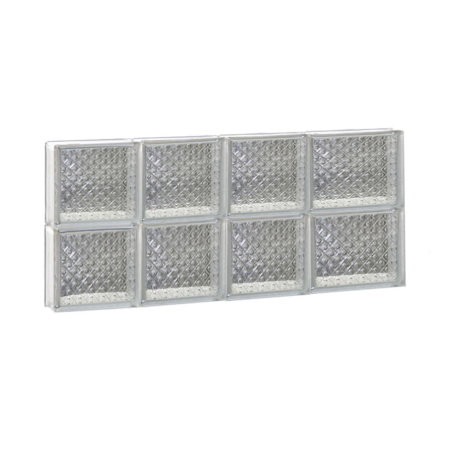 REDI2SET Diamond Glass Pattern Frameless Replacement Glass Block Window (Rough Opening: 26-in x 12-in; Actual: 25-in x 11.5-in)