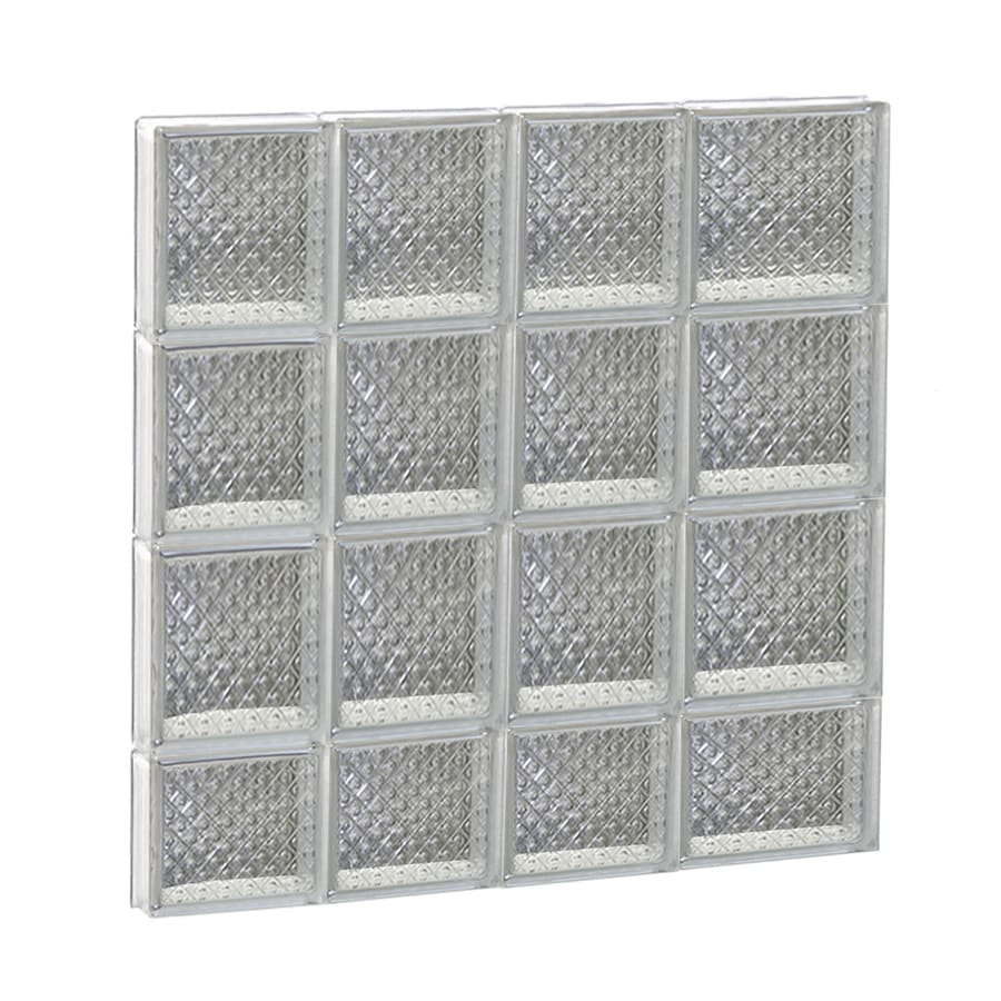 REDI2SET Diamond Glass Pattern Frameless Replacement Glass Block Window (Rough Opening: 26-in x 30-in; Actual: 25-in x 29-in)