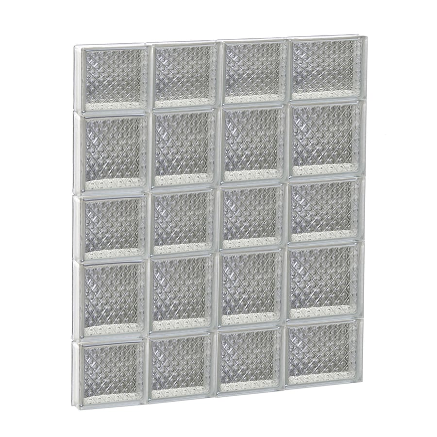REDI2SET Diamond Glass Pattern Frameless Replacement Glass Block Window (Rough Opening: 26-in x 34-in; Actual: 25-in x 32.75-in)
