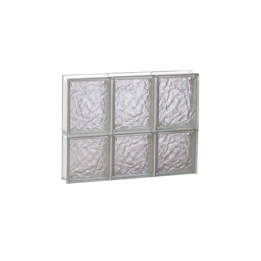 REDI2SET Ice Glass Pattern Frameless Replacement Block Window (Rough Opening: 18-in x 14-in; Actual: 17.25-in x 13.5-in)