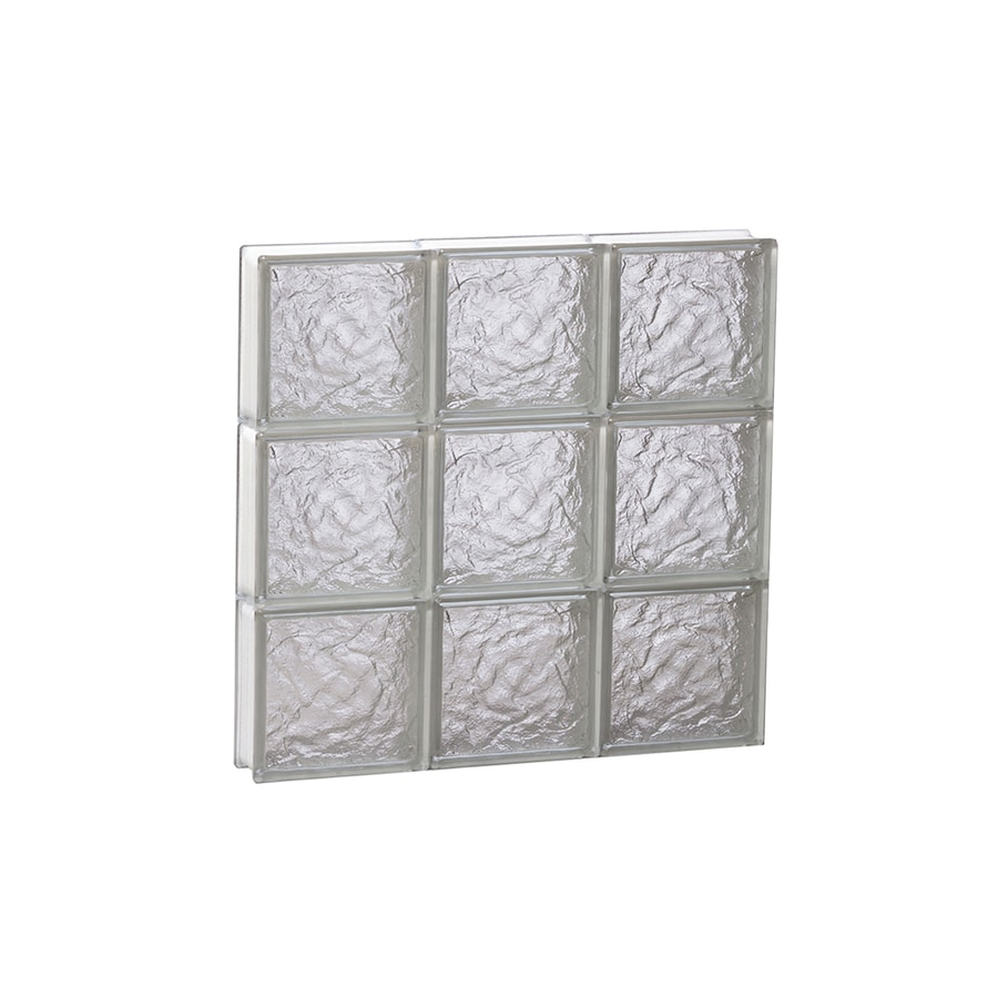 REDI2SET Ice Glass Pattern Frameless Replacement Block Window (Rough Opening: 18-in x 18-in; Actual: 17.25-in x 17.25-in)