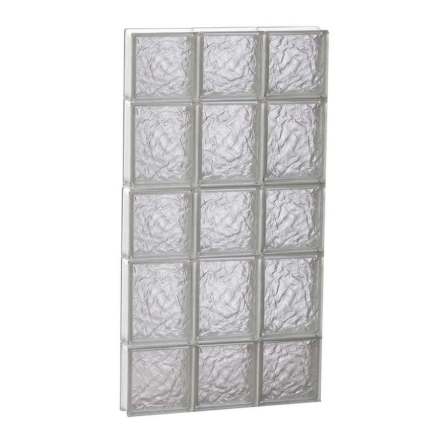 REDI2SET Ice Glass Pattern Frameless Replacement Block Window (Rough Opening: 18-in x 34-in; Actual: 17.25-in x 32.75-in)