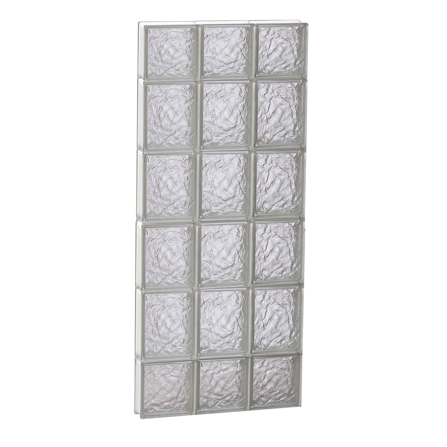 REDI2SET Ice Glass Pattern Frameless Replacement Block Window (Rough Opening: 18-in x 44-in; Actual: 17.25-in x 42.5-in)