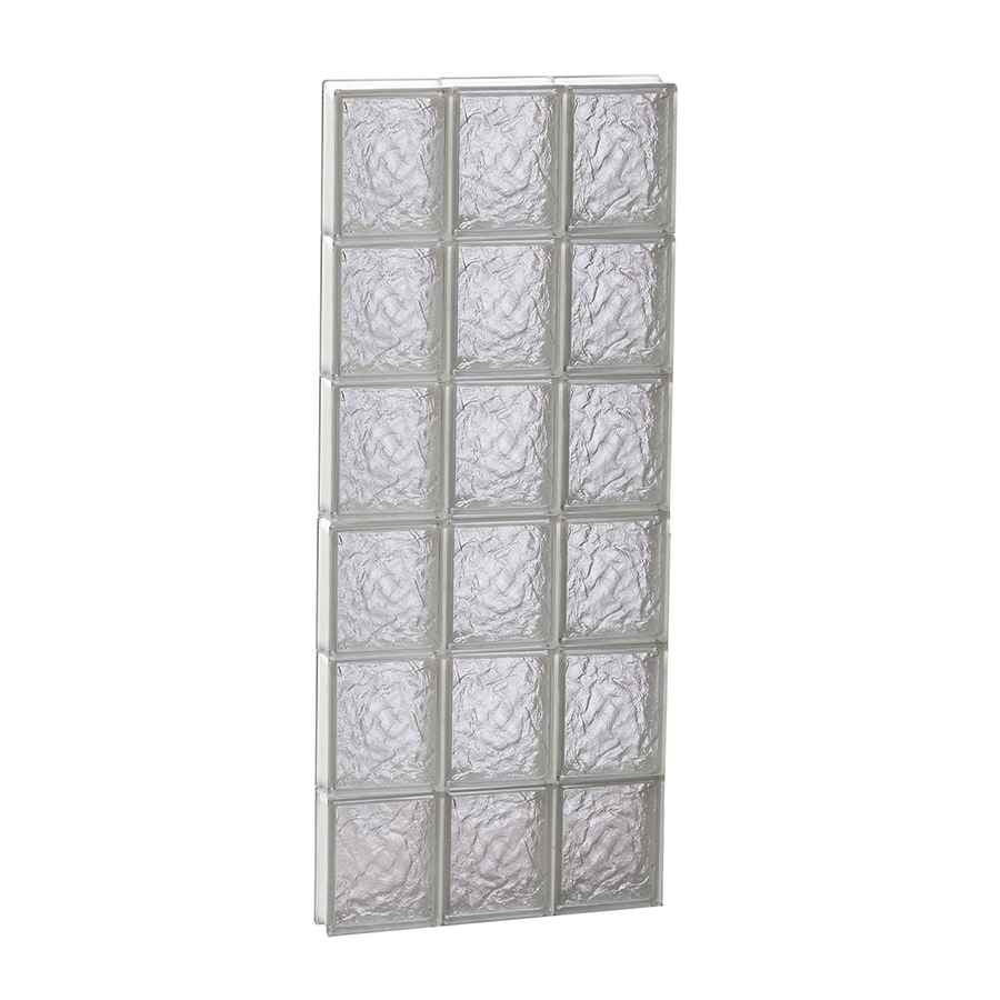 REDI2SET Ice Glass Pattern Frameless Replacement Block Window (Rough Opening: 18-in x 48-in; Actual: 17.25-in x 46.5-in)