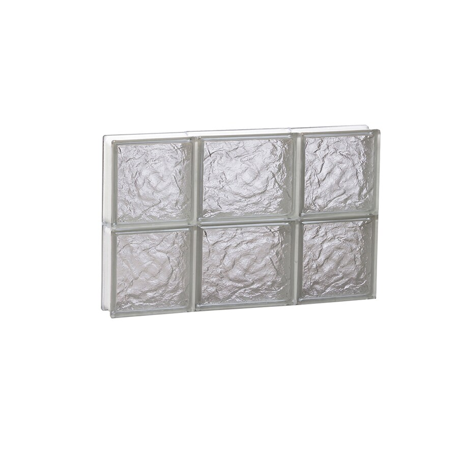 REDI2SET Ice Glass Pattern Frameless Replacement Block Window (Rough Opening: 20-in x 12-in; Actual: 19.25-in x 11.5-in)