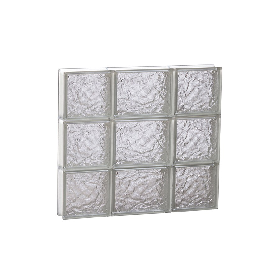 REDI2SET Ice Glass Pattern Frameless Replacement Block Window (Rough Opening: 20-in x 18-in; Actual: 19.25-in x 17.25-in)