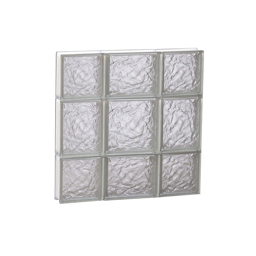 REDI2SET Ice Glass Pattern Frameless Replacement Block Window (Rough Opening: 20-in x 20-in; Actual: 19.25-in x 19.25-in)