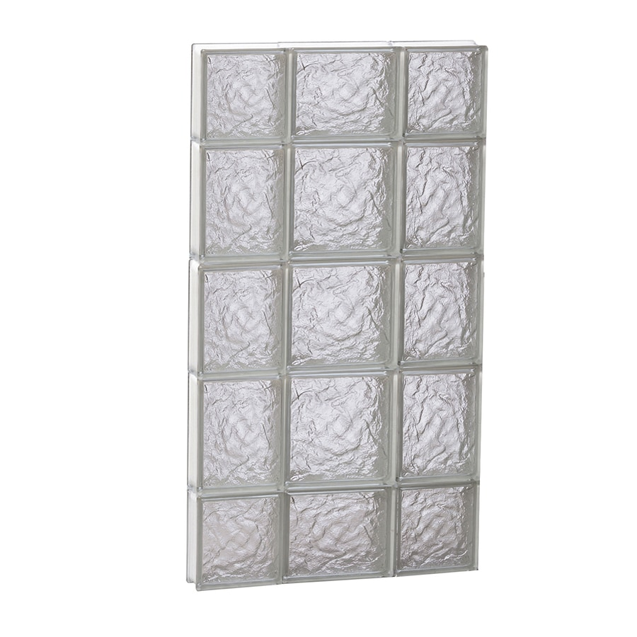 REDI2SET Ice Glass Pattern Frameless Replacement Block Window (Rough Opening: 20-in x 36-in; Actual: 19.25-in x 34.75-in)