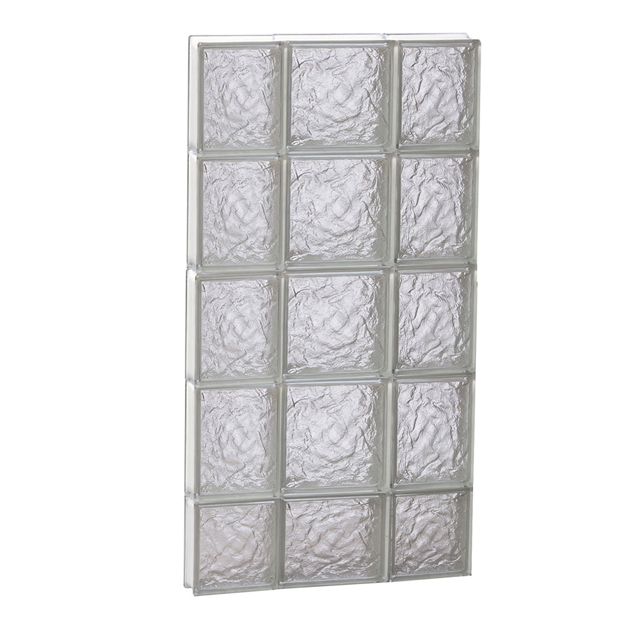 REDI2SET Ice Glass Pattern Frameless Replacement Block Window (Rough Opening: 20-in x 38-in; Actual: 19.25-in x 36.75-in)
