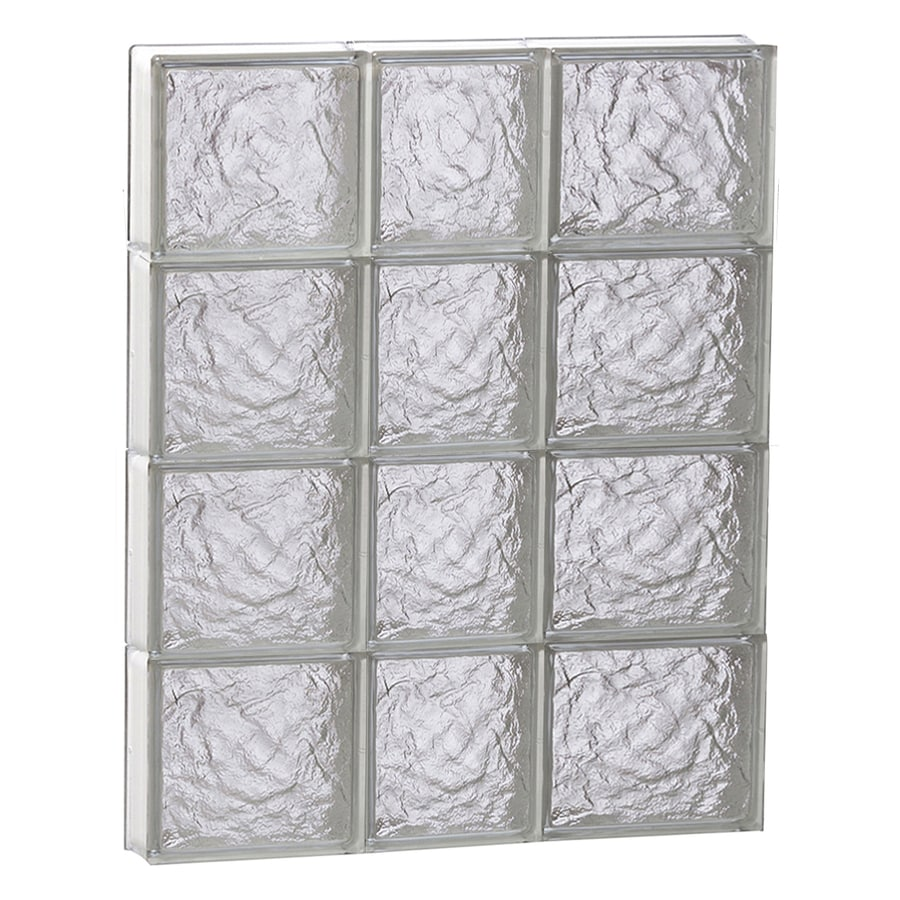 REDI2SET Ice Glass Pattern Frameless Replacement Block Window (Rough Opening: 22-in x 32-in; Actual: 21.25-in x 31-in)