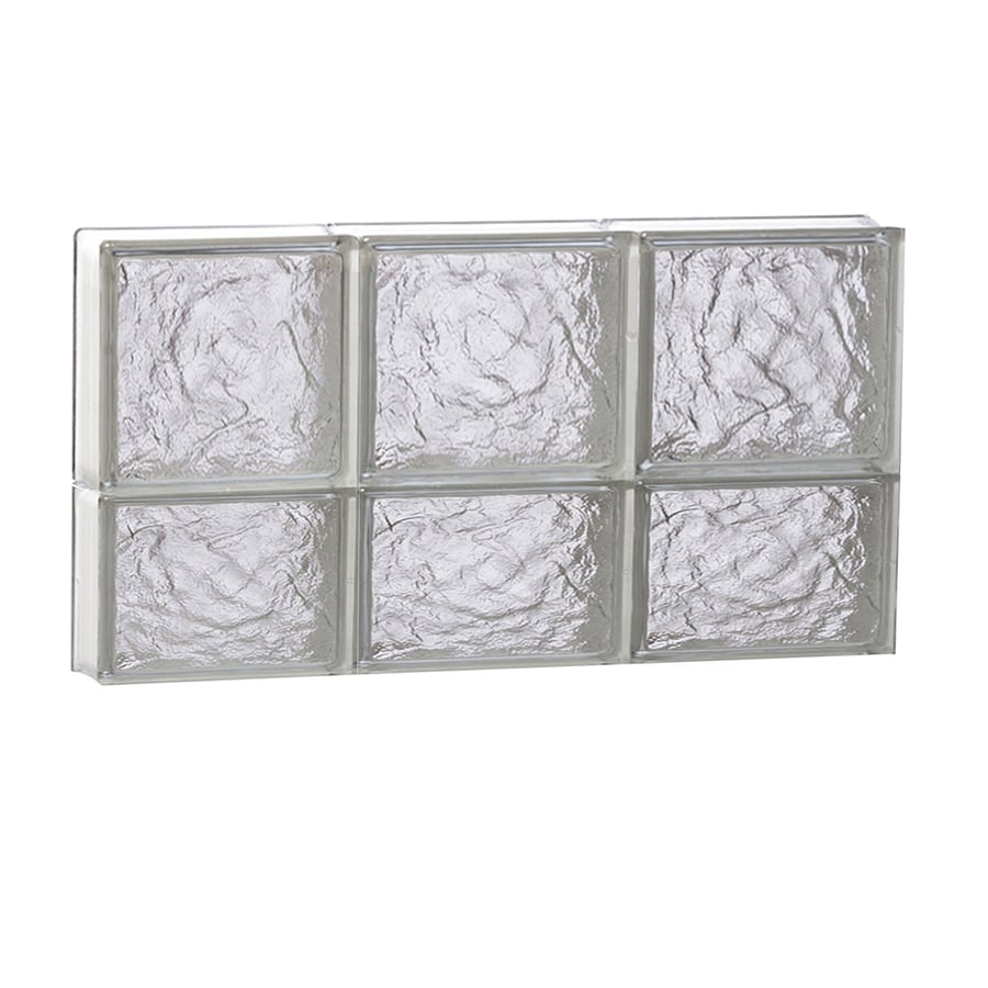 REDI2SET Ice Glass Pattern Frameless Replacement Block Window (Rough Opening: 24-in x 14-in; Actual: 23.25-in x 13.5-in)