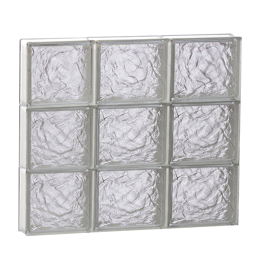 REDI2SET Ice Glass Pattern Frameless Replacement Block Window (Rough Opening: 24-in x 24-in; Actual: 23.25-in x 23.25-in)