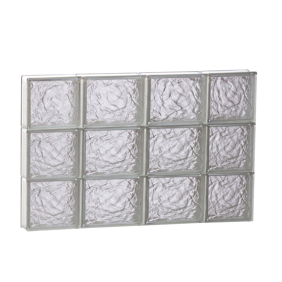 REDI2SET Ice Glass Pattern Frameless Replacement Block Window (Rough Opening: 28-in x 18-in; Actual: 27-in x 17.25-in)