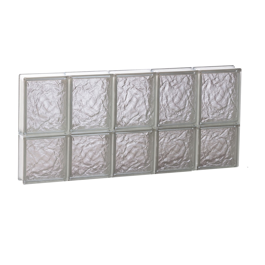 REDI2SET Ice Glass Pattern Frameless Replacement Block Window (Rough Opening: 30-in x 14-in; Actual: 28.75-in x 13.5-in)