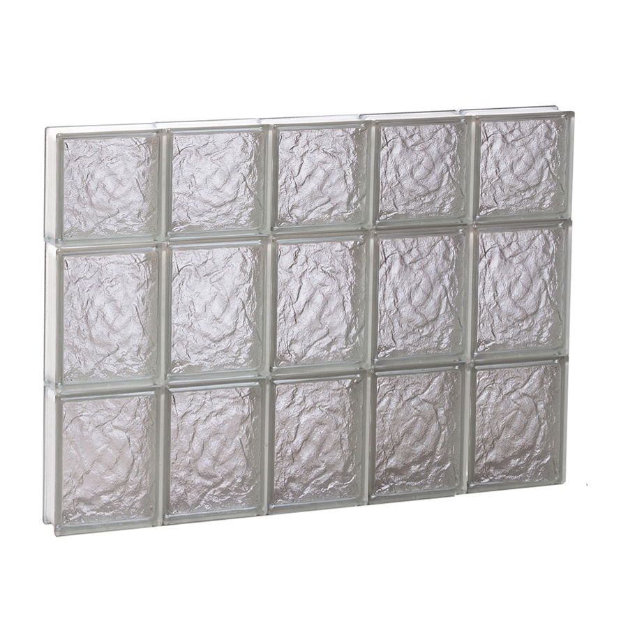 REDI2SET Ice Glass Pattern Frameless Replacement Block Window (Rough Opening: 30-in x 22-in; Actual: 28.75-in x 21.25-in)