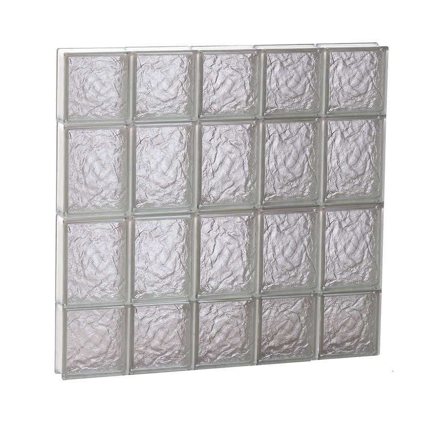 REDI2SET Ice Glass Pattern Frameless Replacement Block Window (Rough Opening: 30-in x 28-in; Actual: 28.75-in x 27-in)