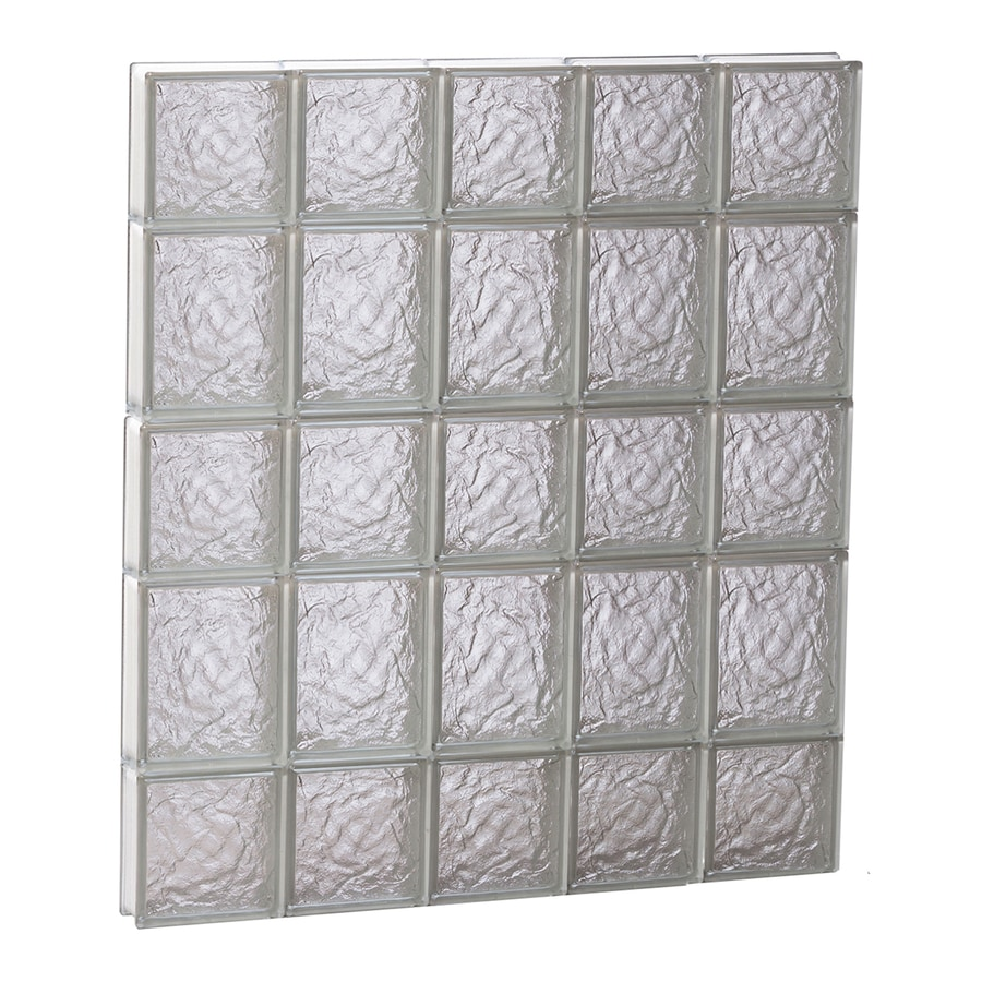 REDI2SET Ice Glass Pattern Frameless Replacement Block Window (Rough Opening: 30-in x 34-in; Actual: 28.75-in x 32.75-in)