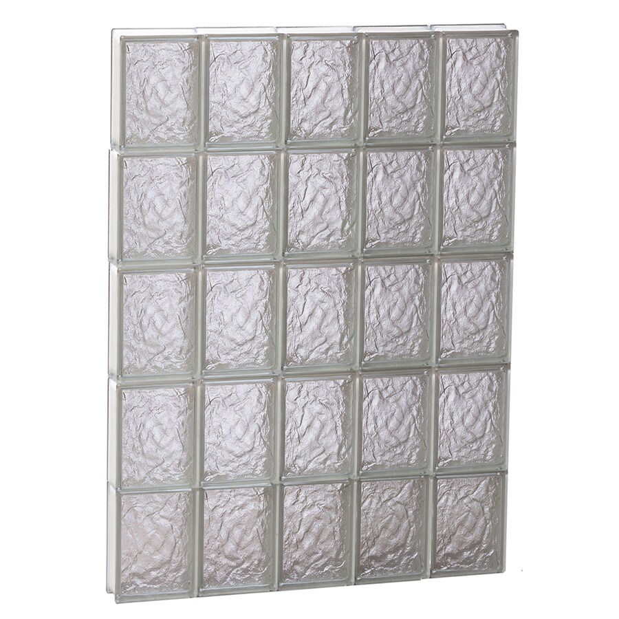 REDI2SET Ice Glass Pattern Frameless Replacement Block Window (Rough Opening: 30-in x 40-in; Actual: 28.75-in x 38.75-in)