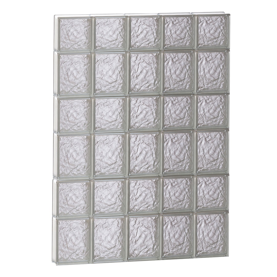 REDI2SET Ice Glass Pattern Frameless Replacement Block Window (Rough Opening: 30-in x 42-in; Actual: 28.75-in x 40.5-in)
