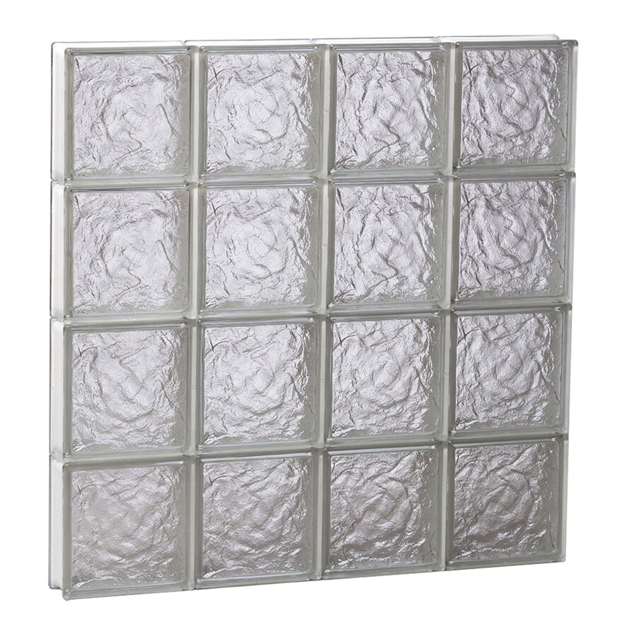 REDI2SET Ice Glass Pattern Frameless Replacement Block Window (Rough Opening: 32-in x 32-in; Actual: 31-in x 31-in)