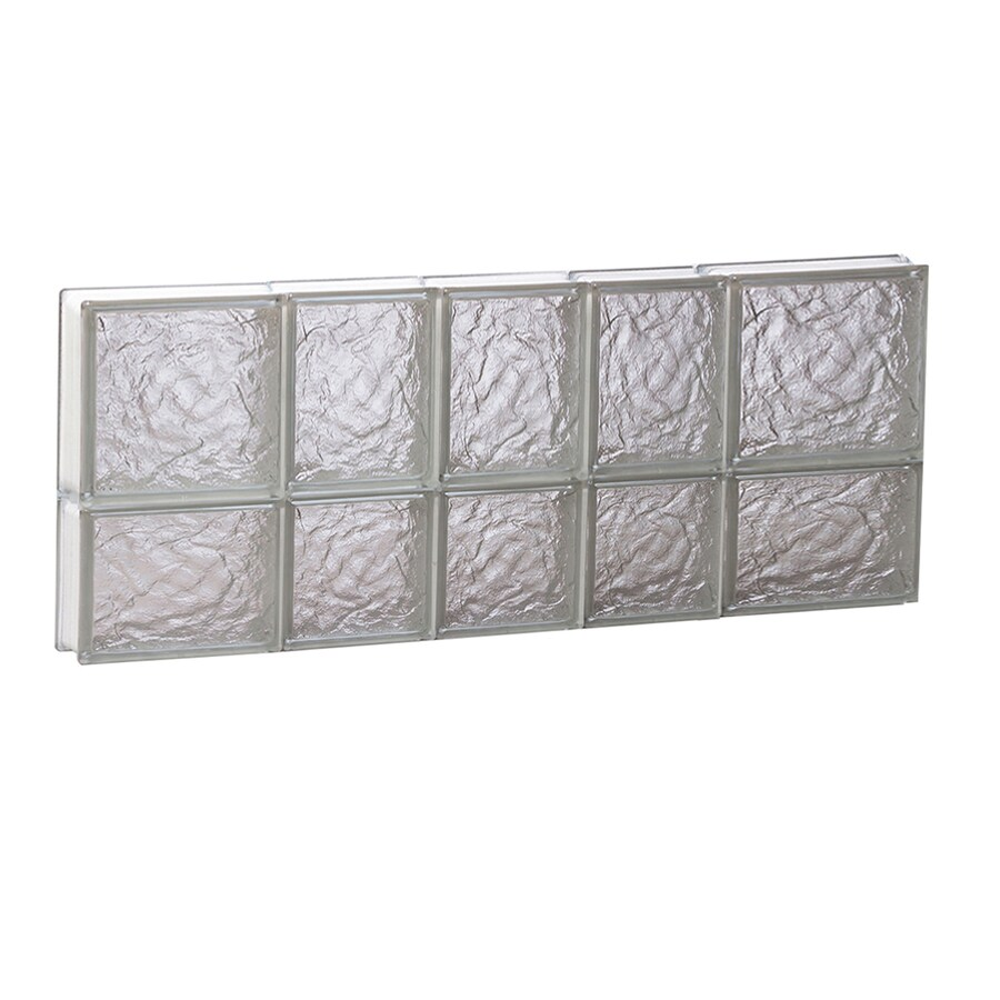 REDI2SET Ice Glass Pattern Frameless Replacement Block Window (Rough Opening: 34-in x 14-in; Actual: 32.75-in x 13.5-in)